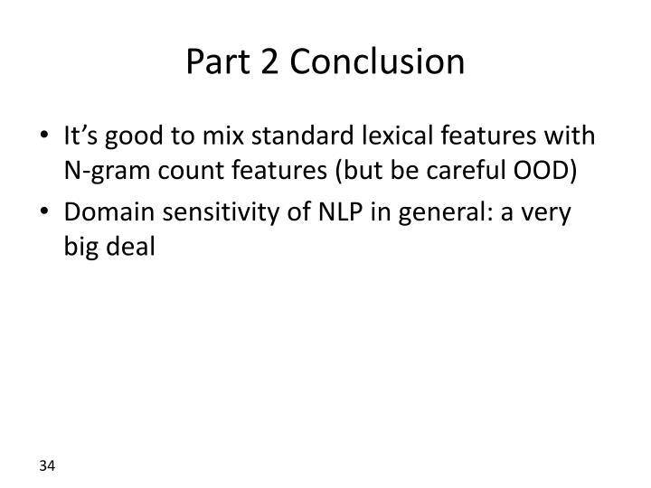 Part 2 Conclusion