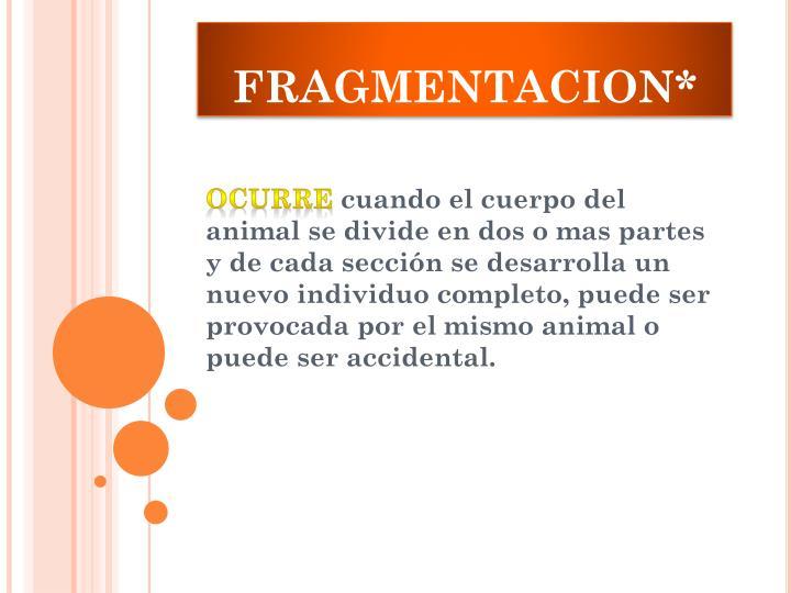 FRAGMENTACION*