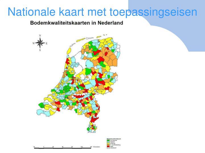 Nationale kaart met toepassingseisen