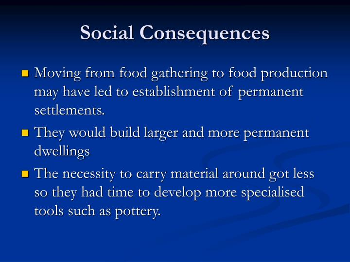 Social Consequences