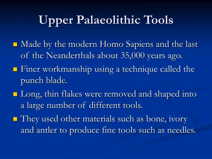 Upper Palaeolithic Tools