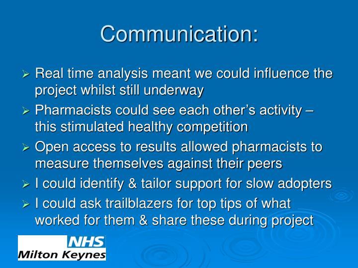 Communication: