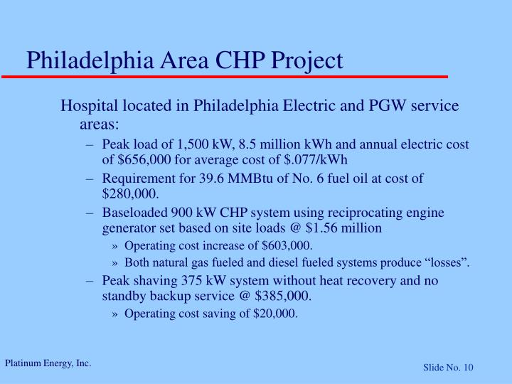 Philadelphia Area CHP Project