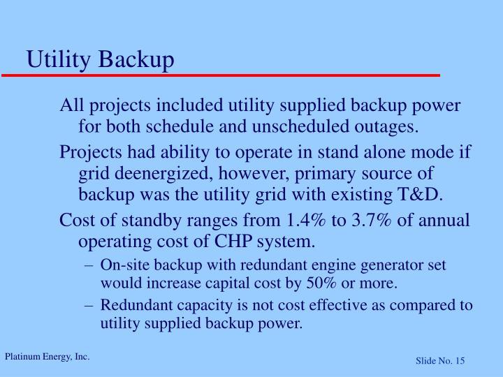 Utility Backup