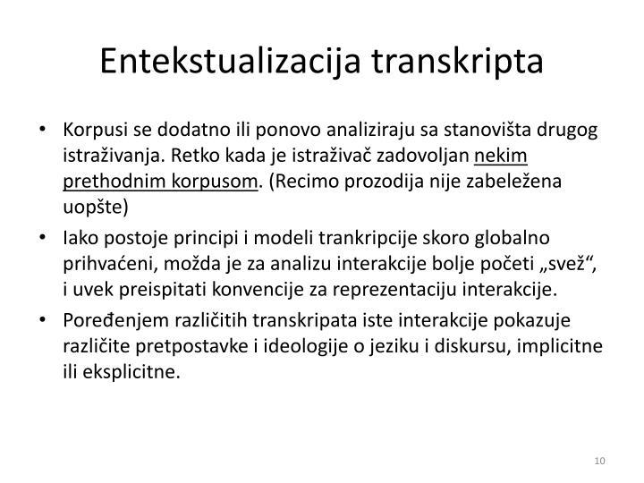 Entekstualizacija transkripta