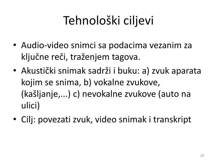 Tehnološki ciljevi