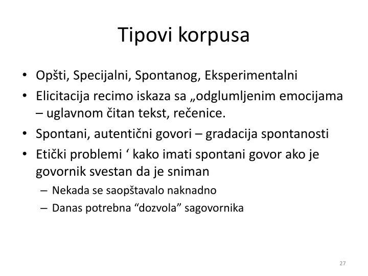 Tipovi korpusa