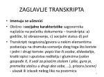 zaglavlje transkripta