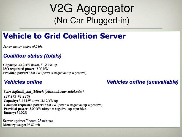 V2G Aggregator