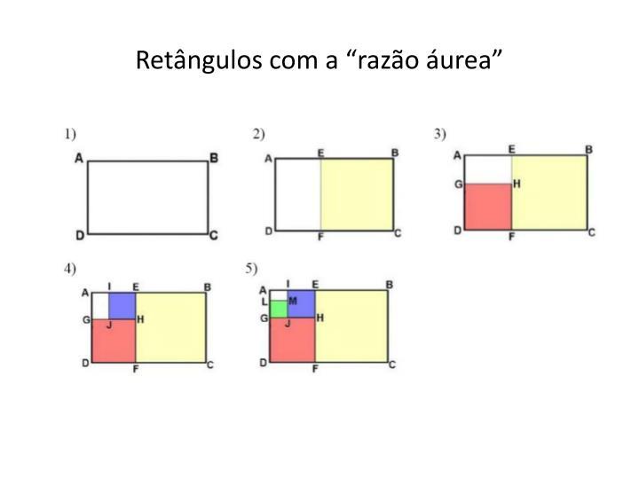 """Retângulos com a """"razão áurea"""""""