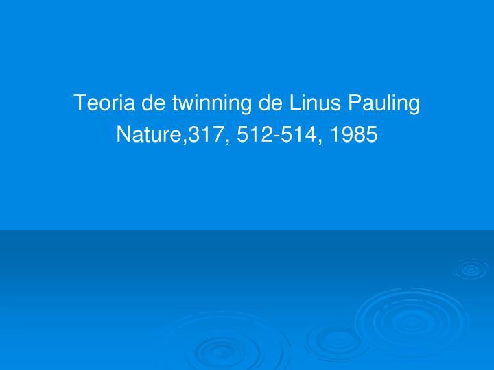 Teoria de twinning de Linus Pauling