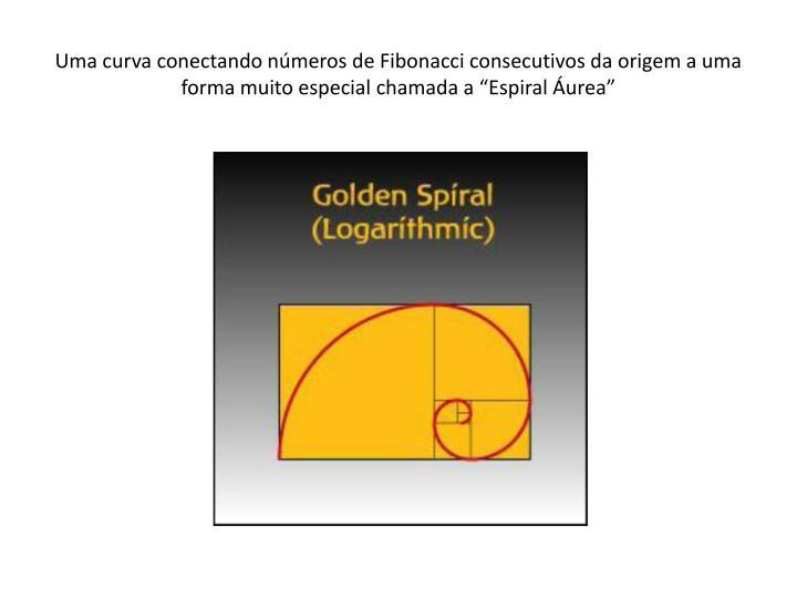 """Uma curva conectando números de Fibonacci consecutivos da origem a uma forma muito especial chamada a """"Espiral Áurea"""""""