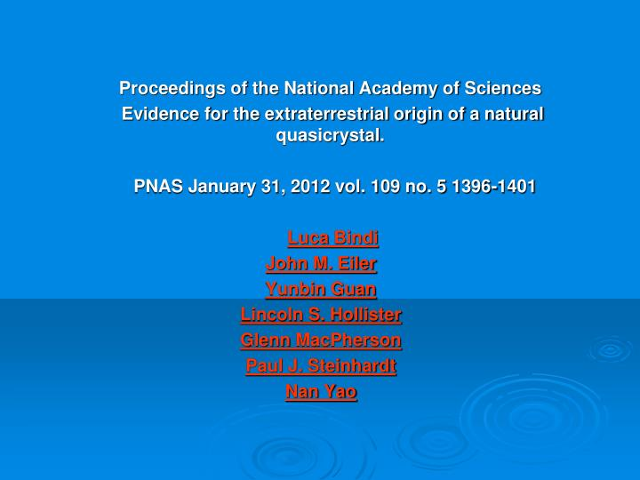 Proceedings of the National Academy of Sciences