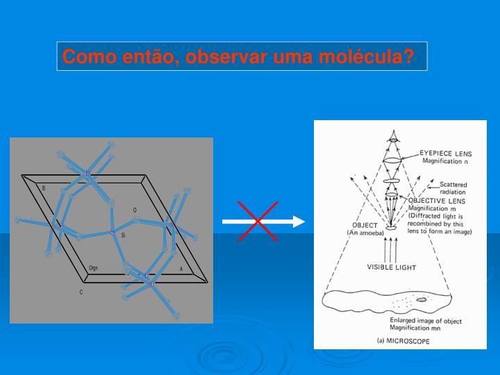 Como então, observar uma molécula?