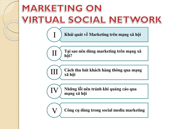 Marketing on virtual social network1