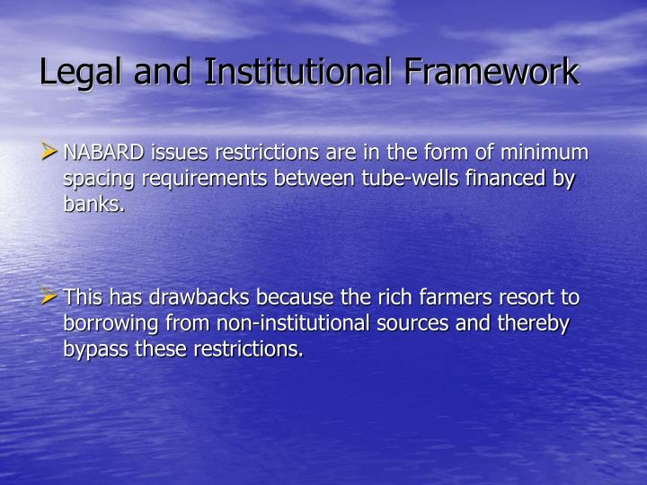 Legal and Institutional Framework