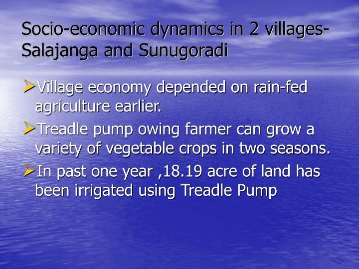 Socio-economic dynamics in 2 villages-  Salajanga and Sunugoradi