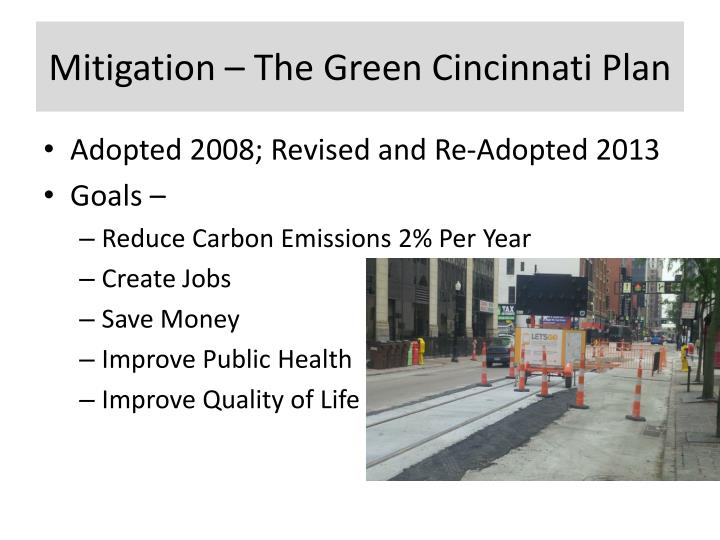 Mitigation the green cincinnati plan