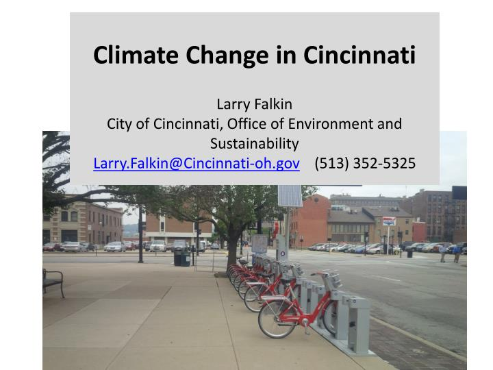 Climate Change in Cincinnati