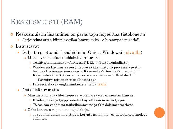 Keskusmuisti (RAM)