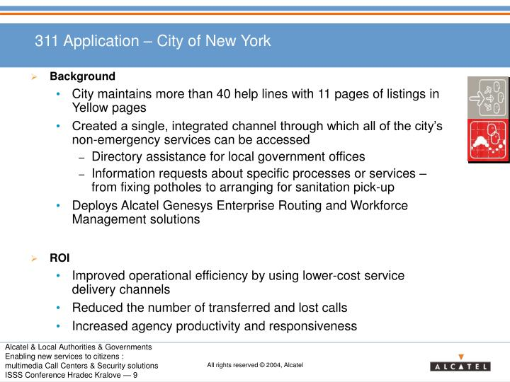 311 Application – City of New York