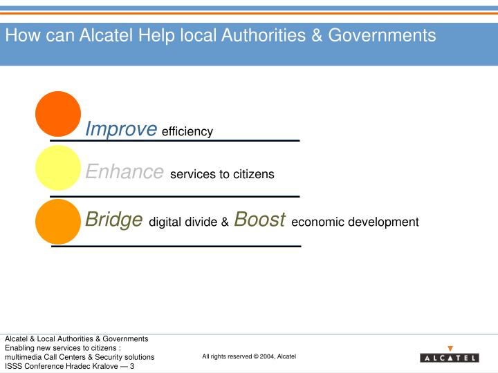 How can alcatel help local authorities governments