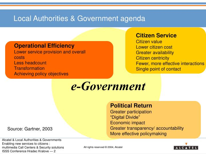 Local authorities government agenda