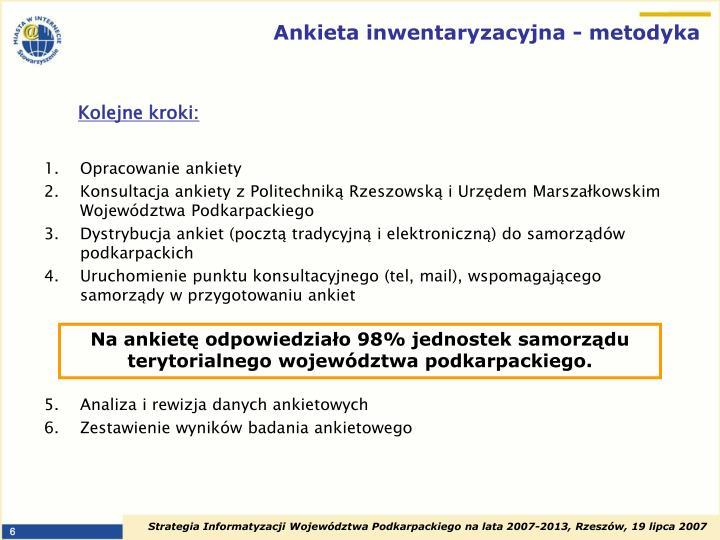 Ankieta inwentaryzacyjna - metodyka