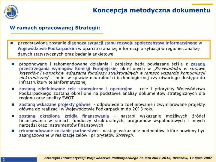 Koncepcja metodyczna dokumentu