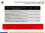 planowane nak ady samorz d w na inwestycje z zakresu si w latach 2007 2013