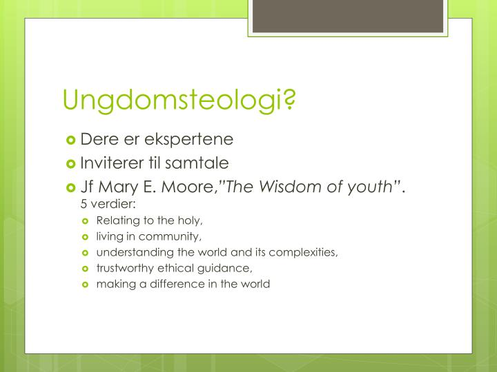 Ungdomsteologi?