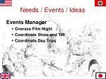 needs events ideas7