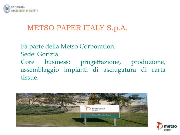 METSO PAPER ITALY S.p.A.