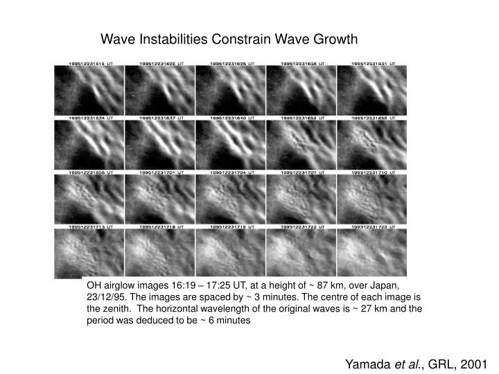 Wave Instabilities Constrain Wave Growth