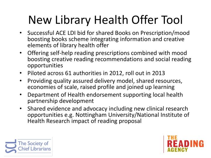 New Library Health Offer Tool