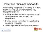 policy and planning frameworks1