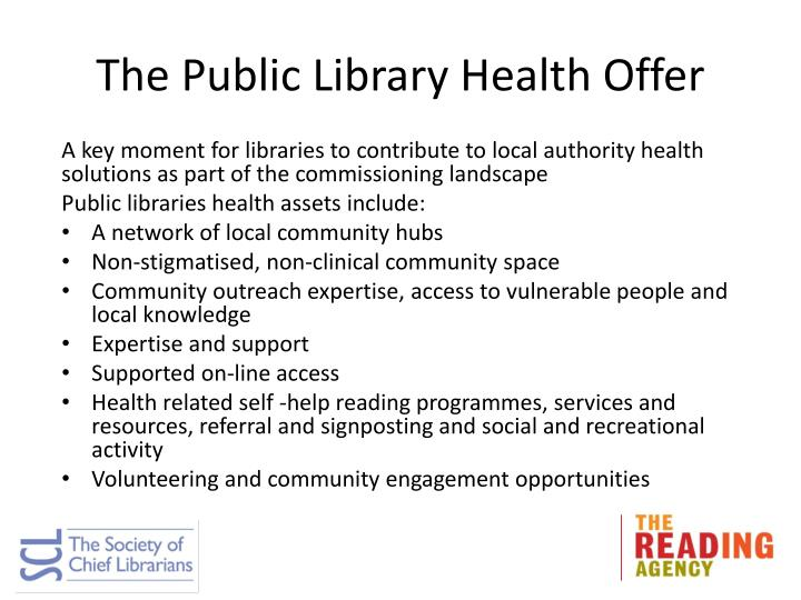 The Public Library Health Offer