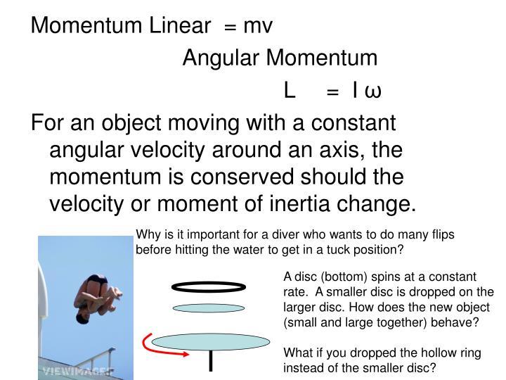 Momentum Linear  = mv
