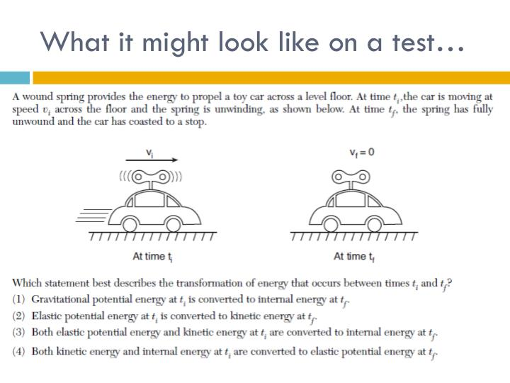 What it might look like on a test…