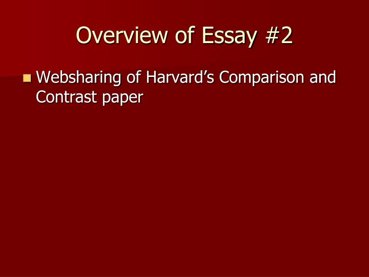 Overview of Essay #2