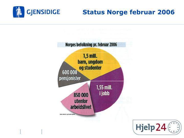 Status Norge februar 2006