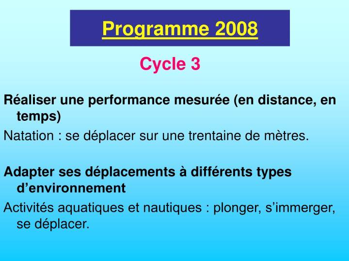 Programme 2008