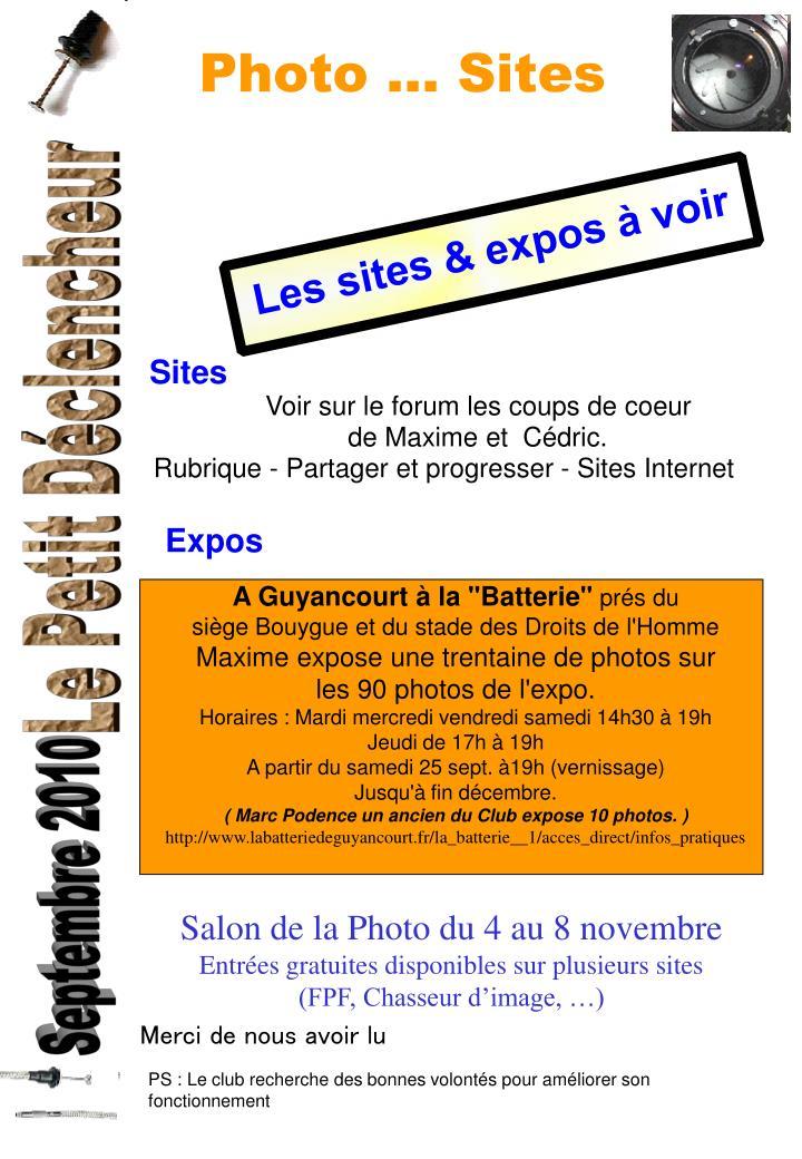 Photo ... Sites