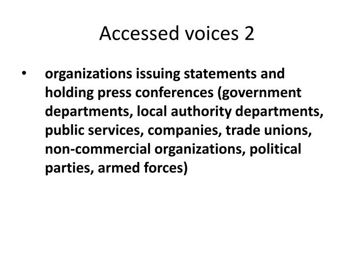 Accessed voices 2