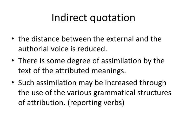 Indirect quotation