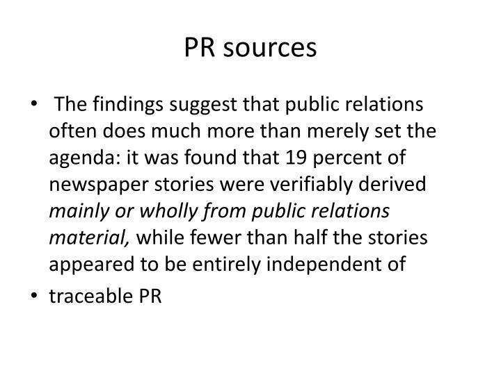 PR sources