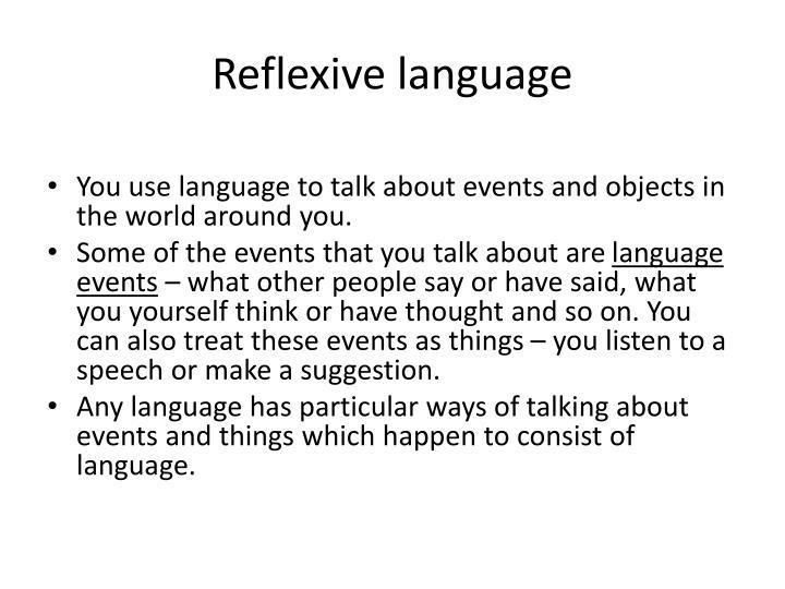 Reflexive language