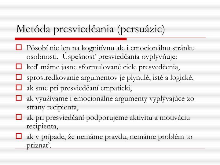 Metóda presviedčania (persuázie)