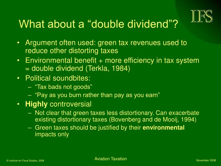 "What about a ""double dividend""?"