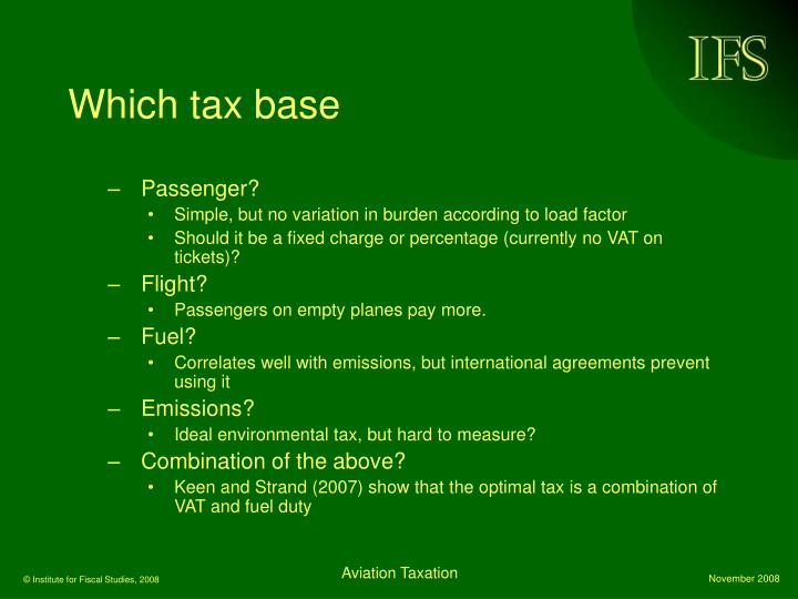 Which tax base